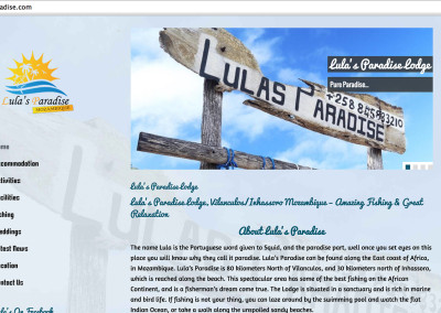 Lulas Paradise Lodge Website