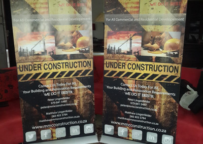 MMC Construction Pull Up Banner