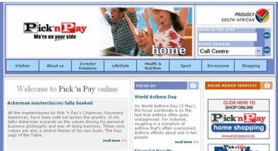 Older Version Pick N Pay Website