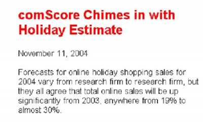 Online Sales Forecast 2000s