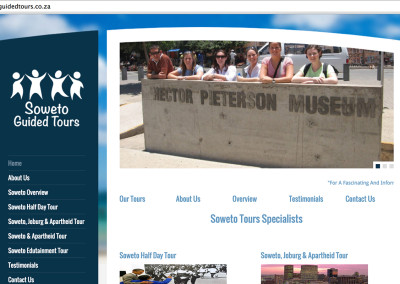 Soweto Guided Tours Website